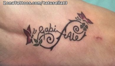 Tatuaje De Infinitos Nombres Empeine Java Java