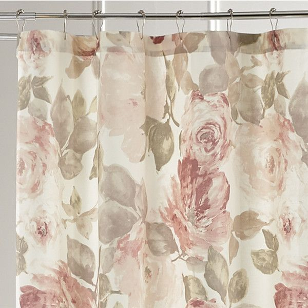 Pier 1 Imports Vintage Rose Shower Curtain ($32) ❤ Liked On Polyvore  Featuring Home
