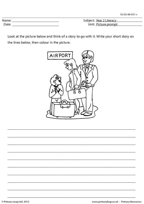 PrimaryLeap.co.uk - Picture Prompt - My First Holiday Worksheet Free  Worksheets For Kids, Creative Writing Worksheets, Picture Prompts