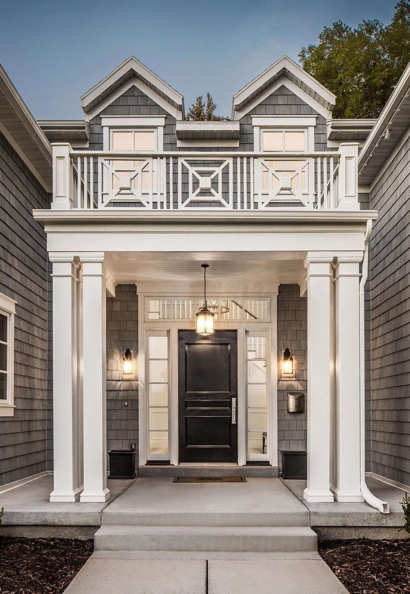 Front Steps Railing Home Design Ideas Pictures Remodel And Decor: Chippendale Railings And Bulked Up Porch Posts