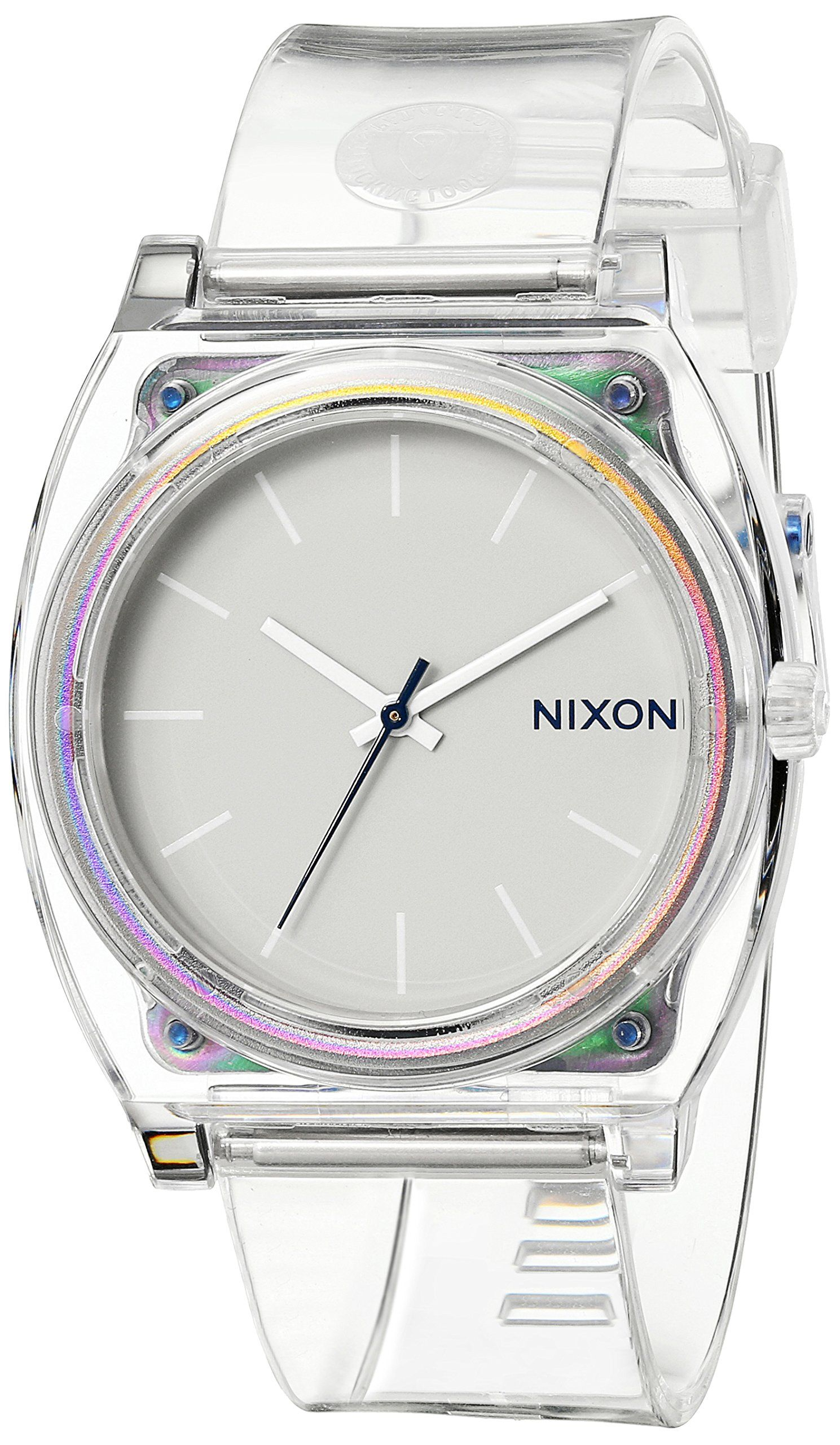 beee942d3dd8  52 Amazon.com  Nixon Time Teller P Translucent Dial Translucent  Polyurethane Ladies Watch A1191779  Nixon  Clothing