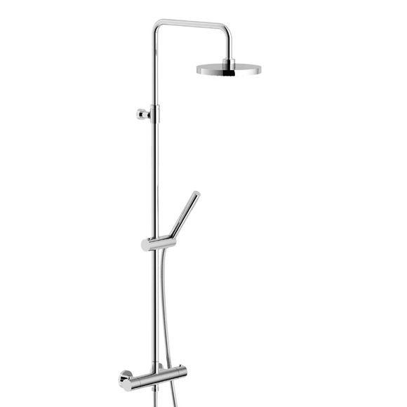 Nobili Plus Duschsystem Mit Thermostat Brausemischer, Brausestange  Teleskopisch   PL0003050CR | Reuter Onlineshop · KaufenBadezimmerarmaturen Bogen