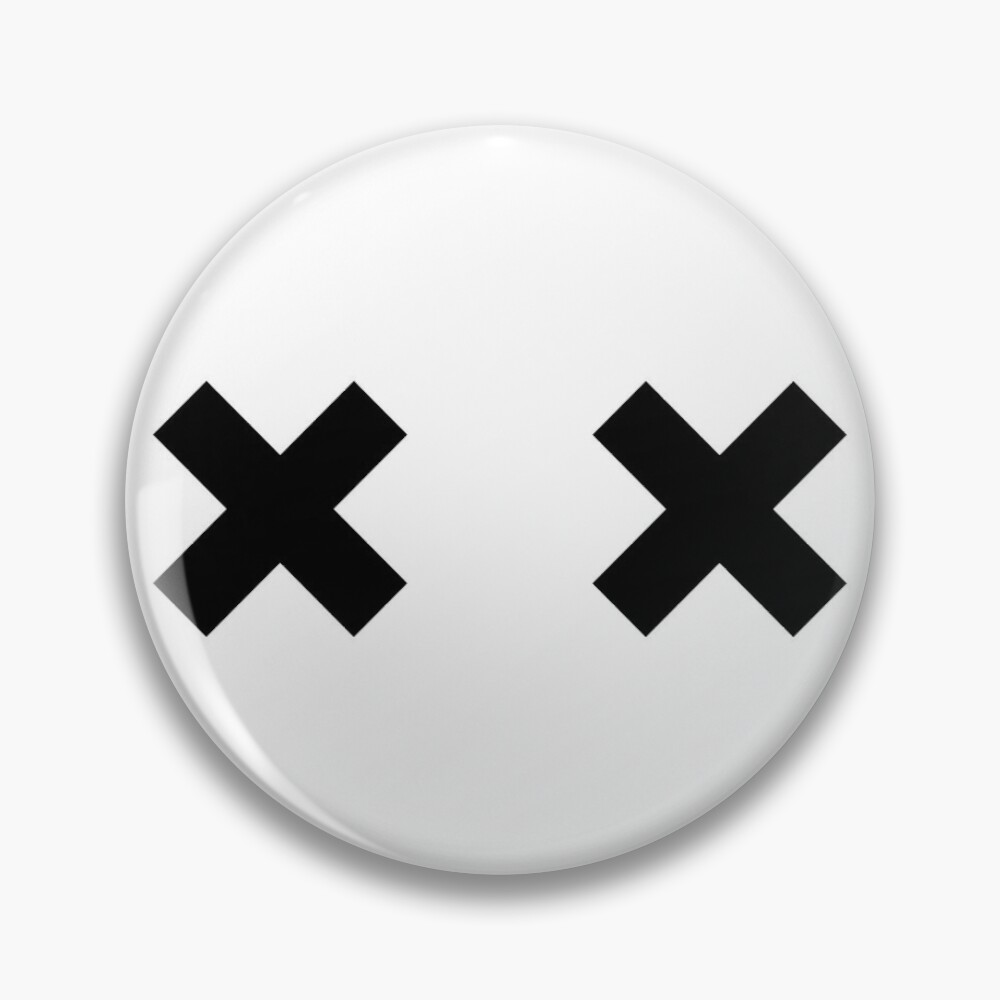 Two Big Xs Crossed Out Design Pin By Drugaya Redbubble Design Button Pins Funny Tshirts
