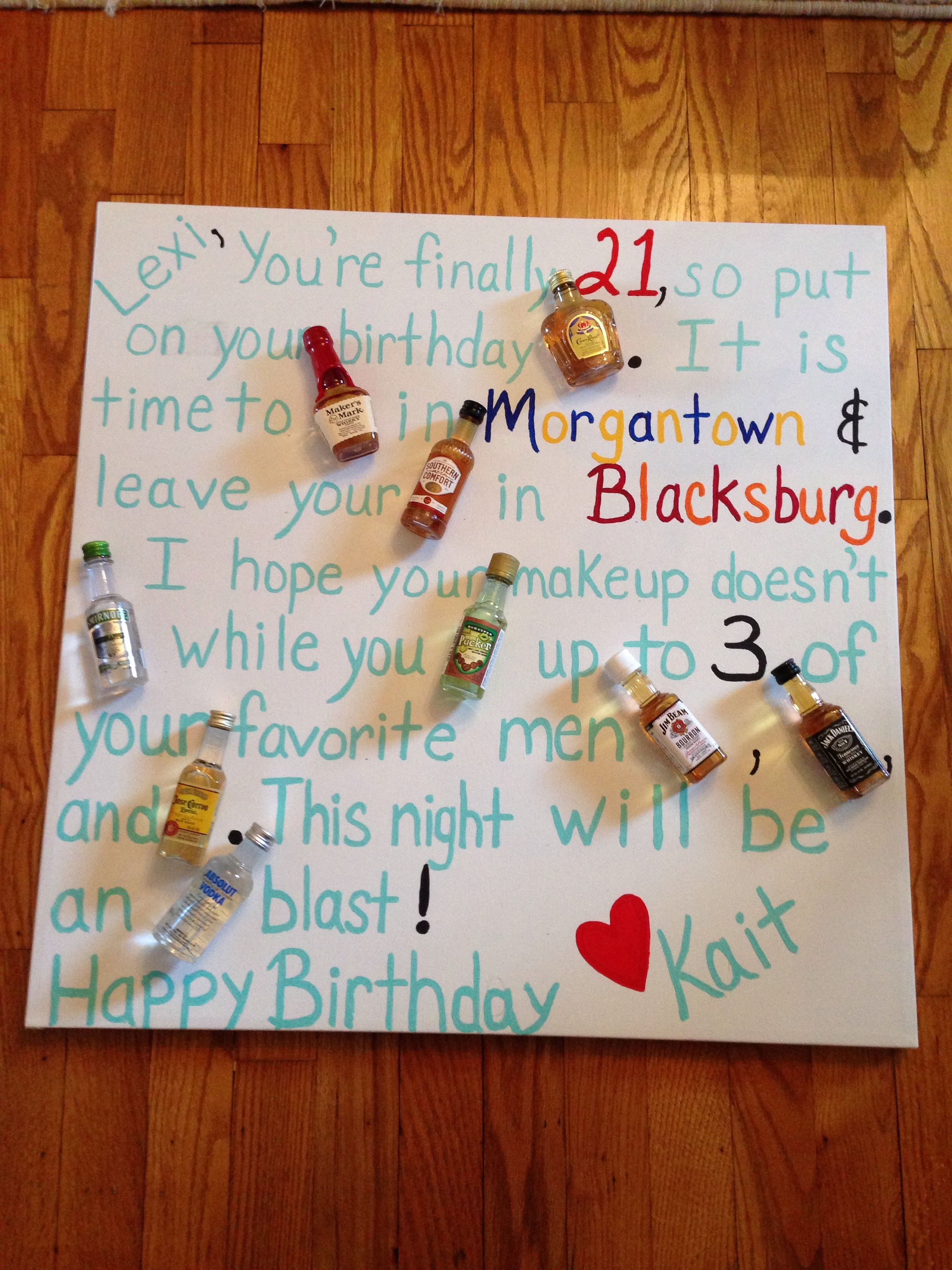 Pin By Kaitlyn Farley Oliverio On Rainy Day Projects 21st Birthday Poster 21st Birthday Presents 21st Birthday Cards