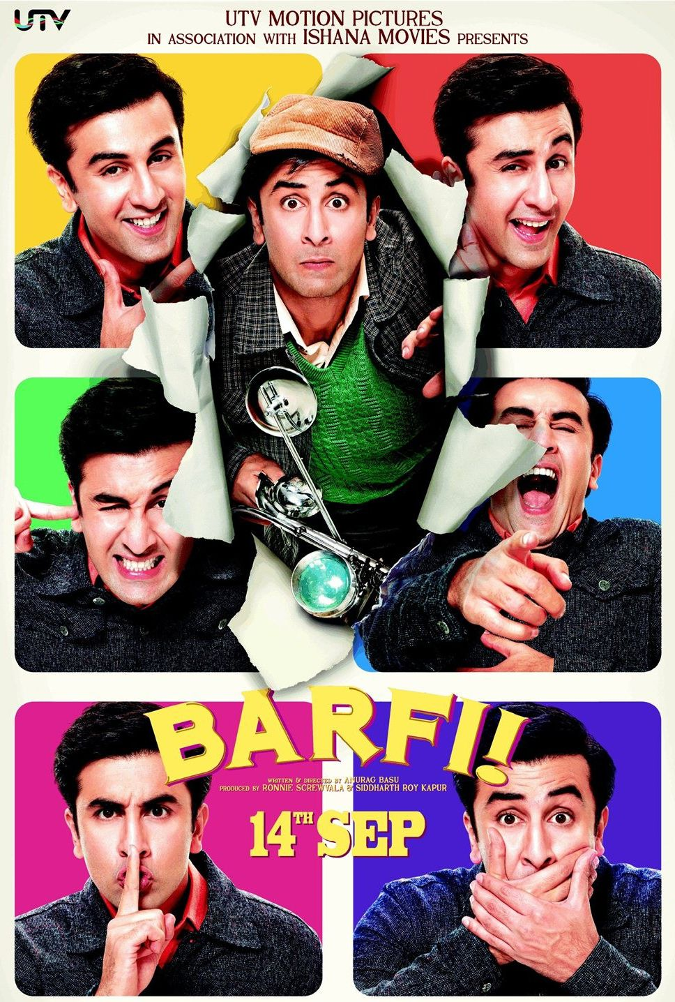 Barfi (2012) about a Deaf guy and Autistic girl... ck out