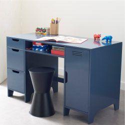 bureau enfant double caisson asper home deco bureau. Black Bedroom Furniture Sets. Home Design Ideas
