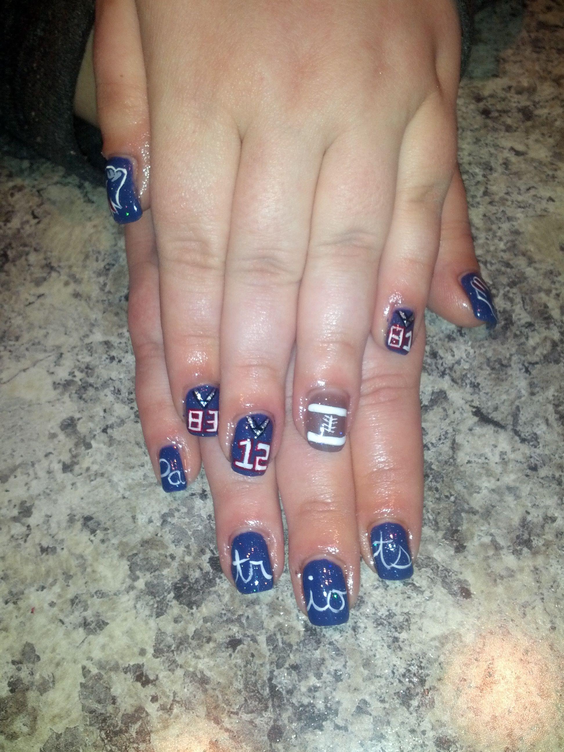 patriots #nails | Patriots Nails | Pinterest | Patriots, Nail nail ...