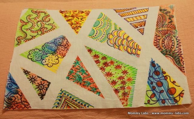 Tape Resist on Fabric and Other 'Made-with-Love' Creations #fabrictape