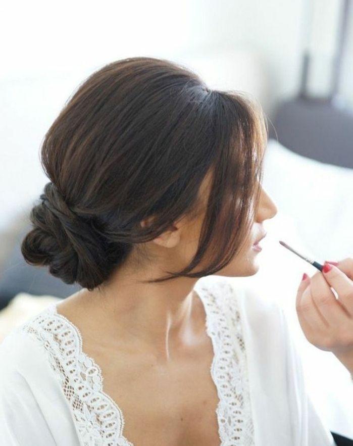 prachtvolle dutt frisuren eine l ssige hochsteckfrisur frauenmode pinterest wedding hair. Black Bedroom Furniture Sets. Home Design Ideas