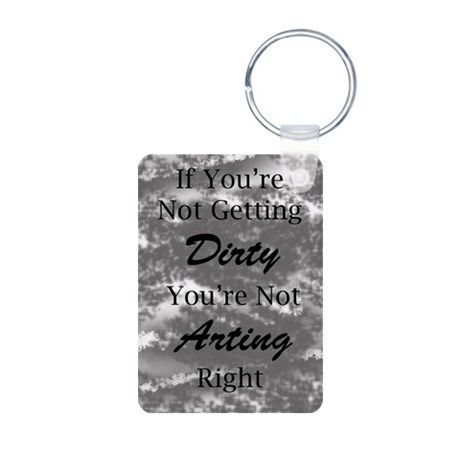 Dirty Arting (Gray) Keychains on CafePress.com