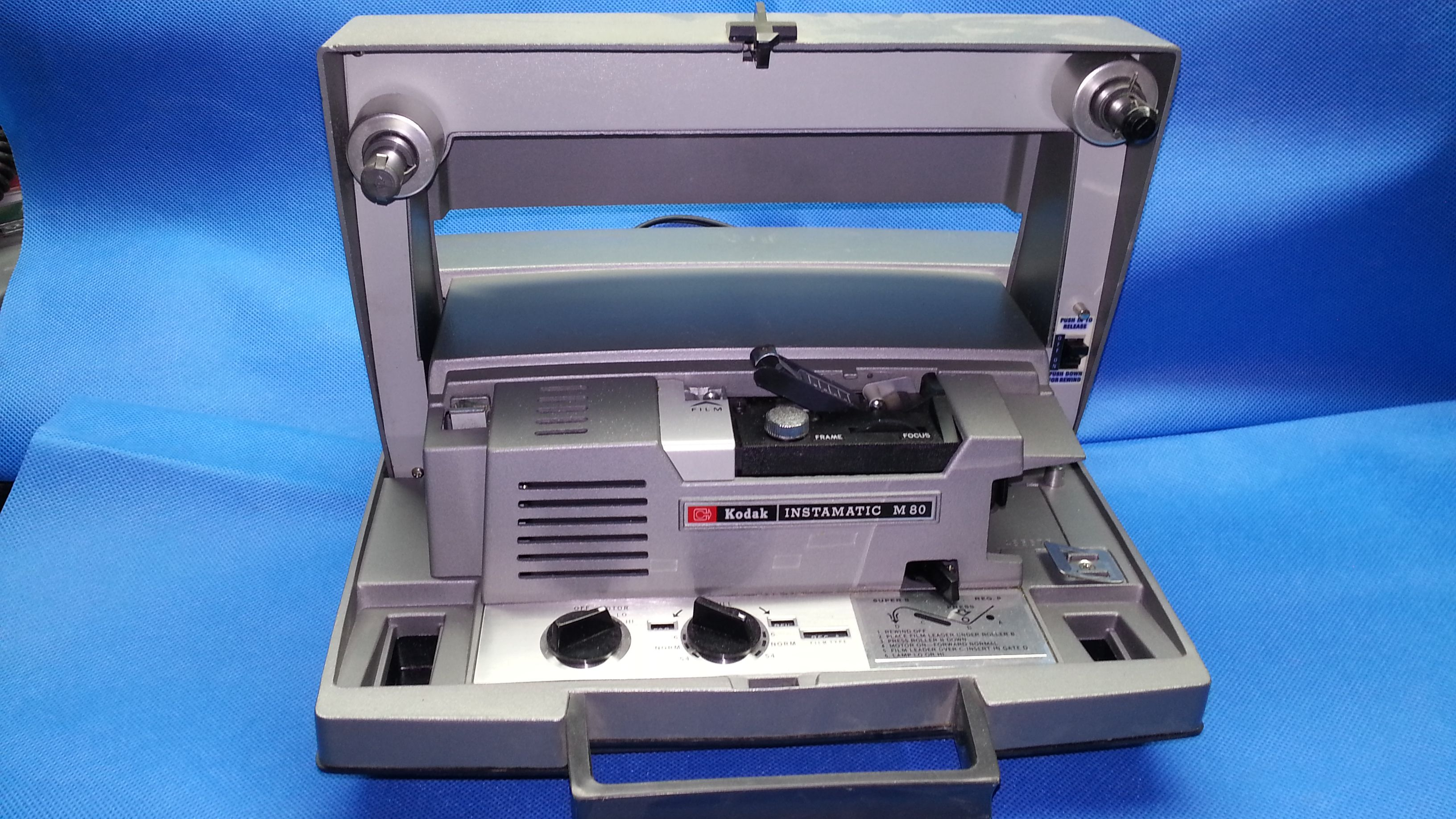 Kodaks instamatic m80 movie projector was originally used to screen kodaks instamatic m80 movie projector was originally used to screen both regular 8mm and super 8 fandeluxe Gallery