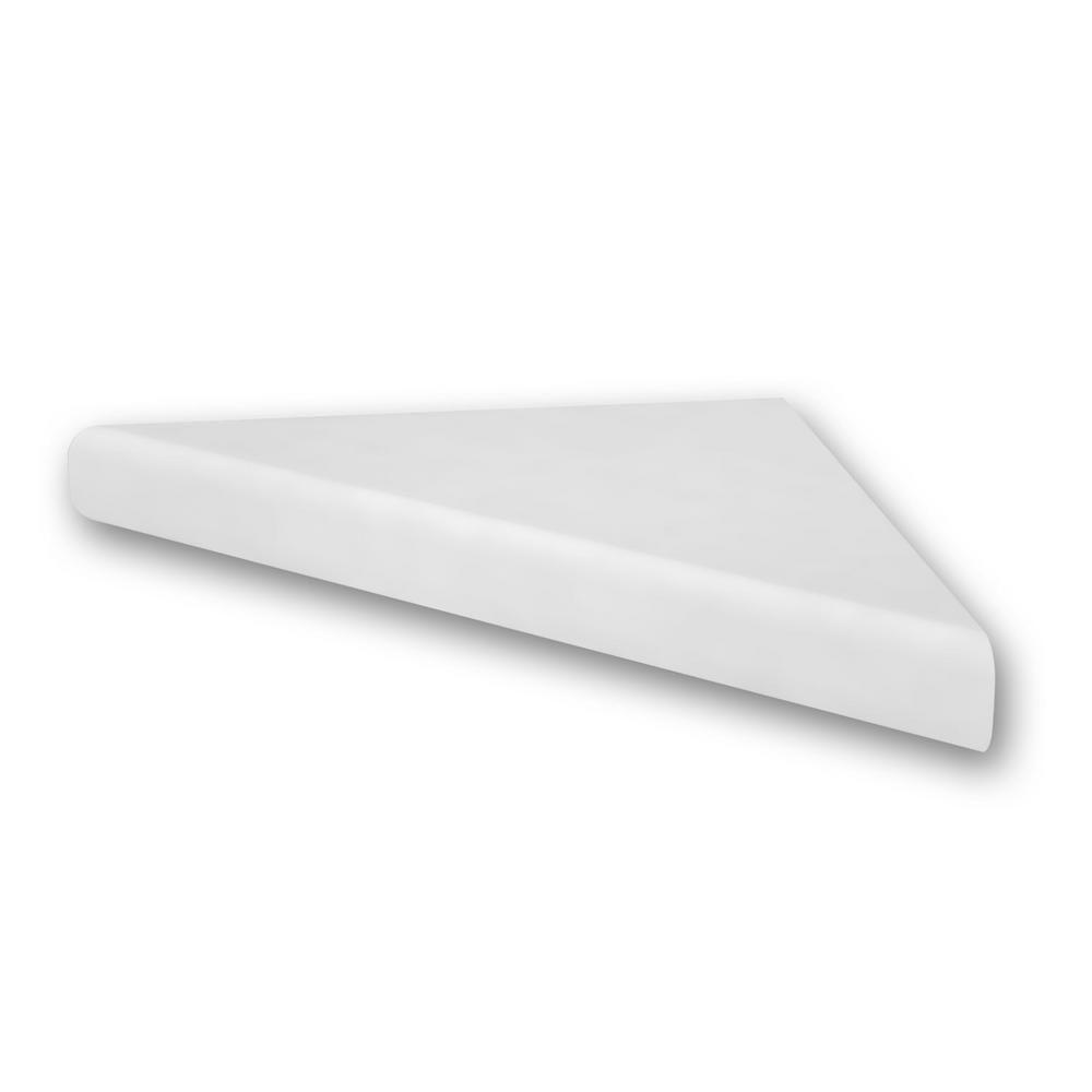 Flexstone 15 In Corner Shelf Niche In White Flxcsb15wh Corner