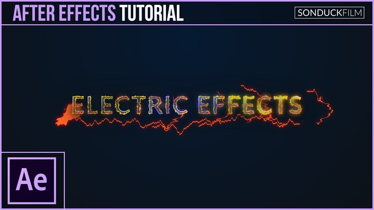 How to Create Electric Effects for Motion Graphics - After