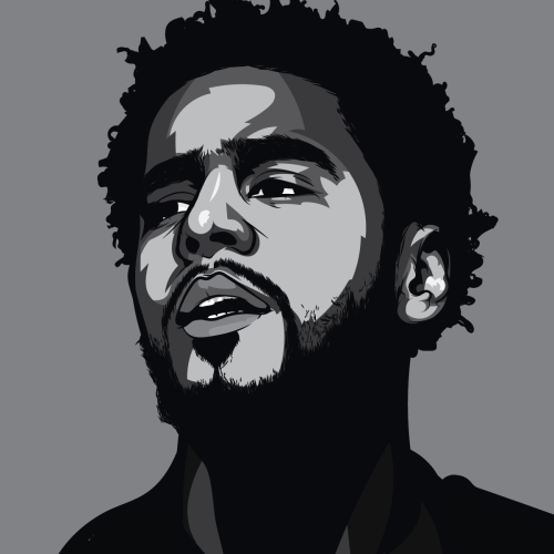 Chilled Coughee J Cole Art Rapper Art Hip Hop Art