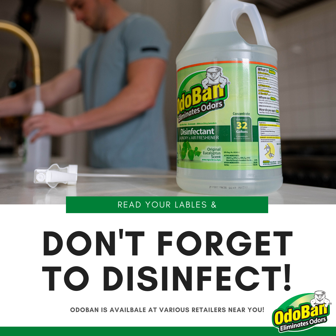 Disinfect With Odoban In 2020 Cleaning Keep It Cleaner Carpet Cleaning Hacks
