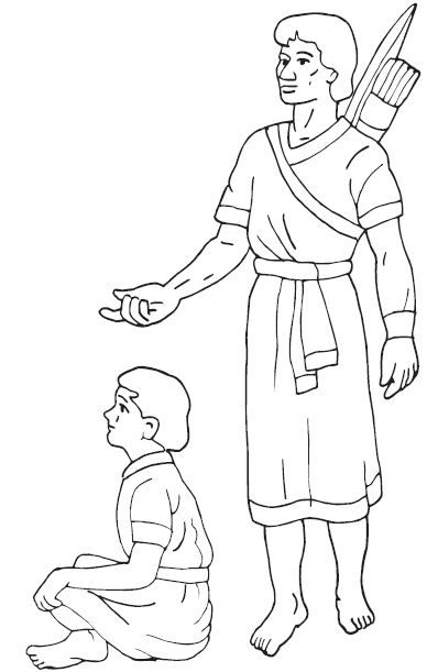 CLASES BIBLICAS VISUALIZADAS: David y Jonatan ( para imprimir en ...