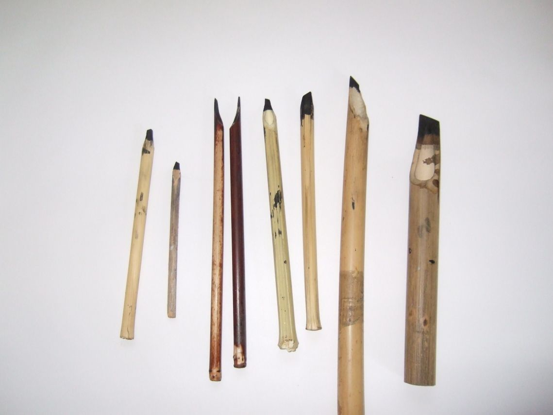 Making a calligraphy pen from bamboo calligraphy tools Arabic calligraphy tools