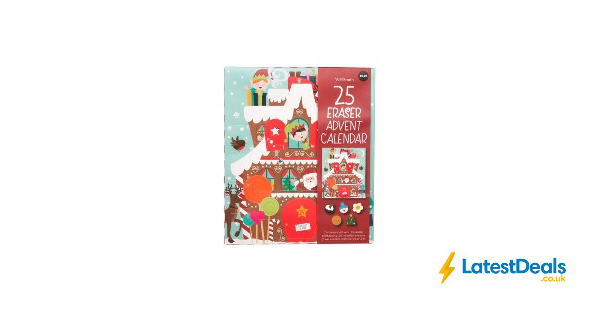 WHSmith Eraser Advent Calendar, £3.49 Advent, Advent