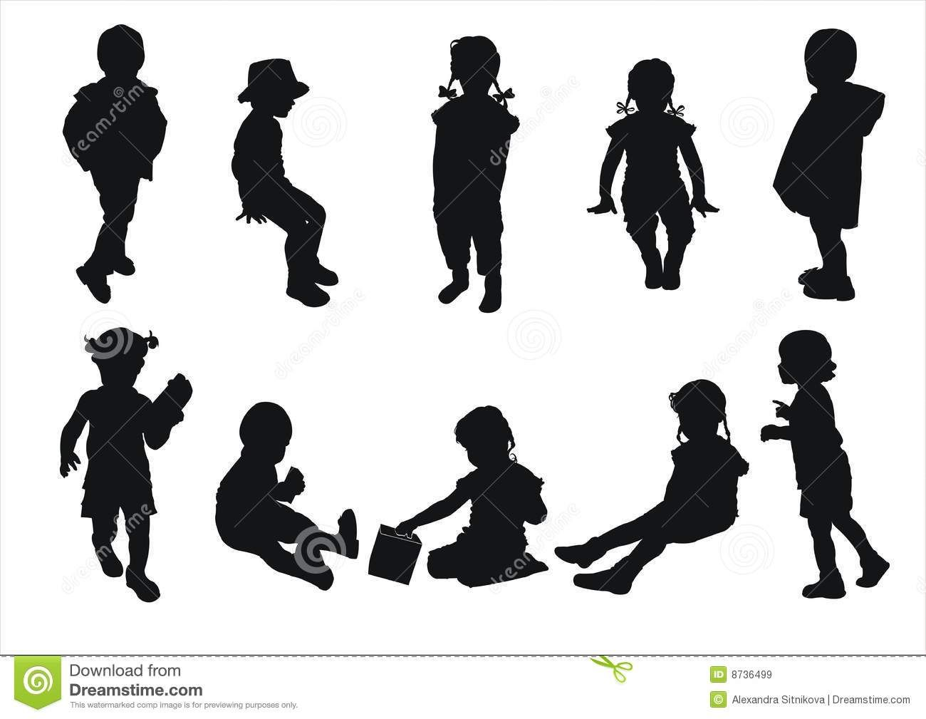 Kids Silhouettes Download From Over 53 Million High Quality Stock Photos Images Vectors Sign Up For Free Toda Kids Silhouette Silhouette Silhouette Images