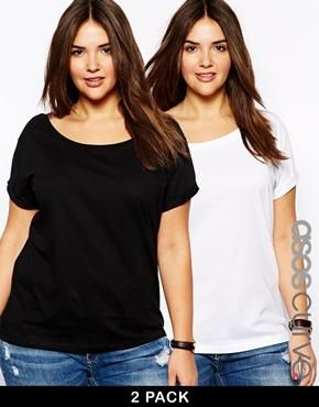 Exclusive 2 Pack Off The Shoulder T-Shirt