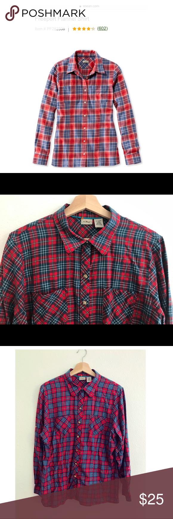 Plus size flannel shirt dress  LL Bean Freeport Flannel Shirt large  My Posh Picks  Pinterest