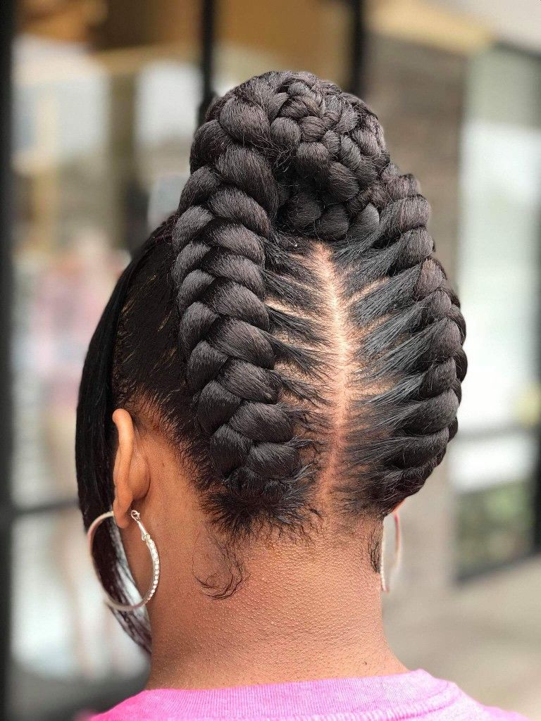 Natural Ponytails Updo Natural Hair Styles Braided Hairstyles Easy Braids For Black Hair