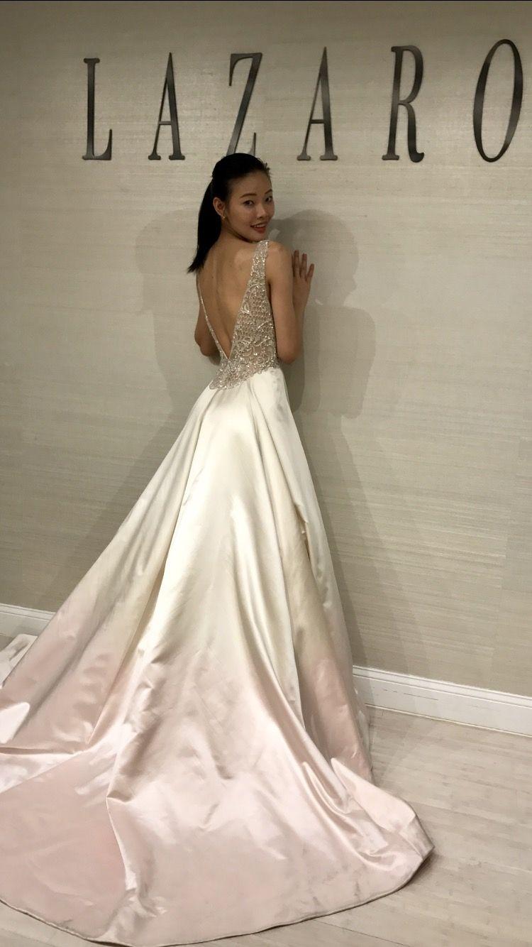 Ombré Wedding Dress Lazaro Style 3757