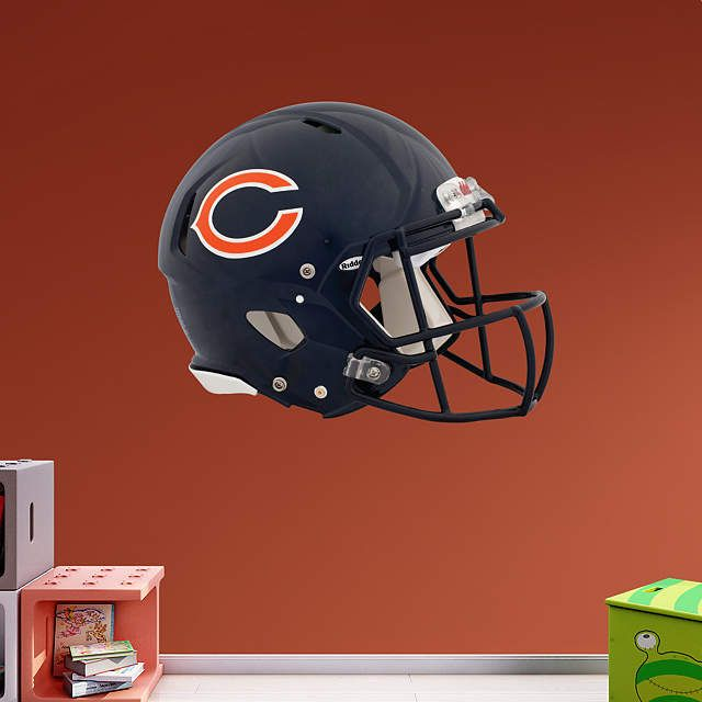dc21a7ef0 Chicago Bears fan  Prove it! Put your passion on display with a giant Chicago  Bears Helmet Fathead wall decal!