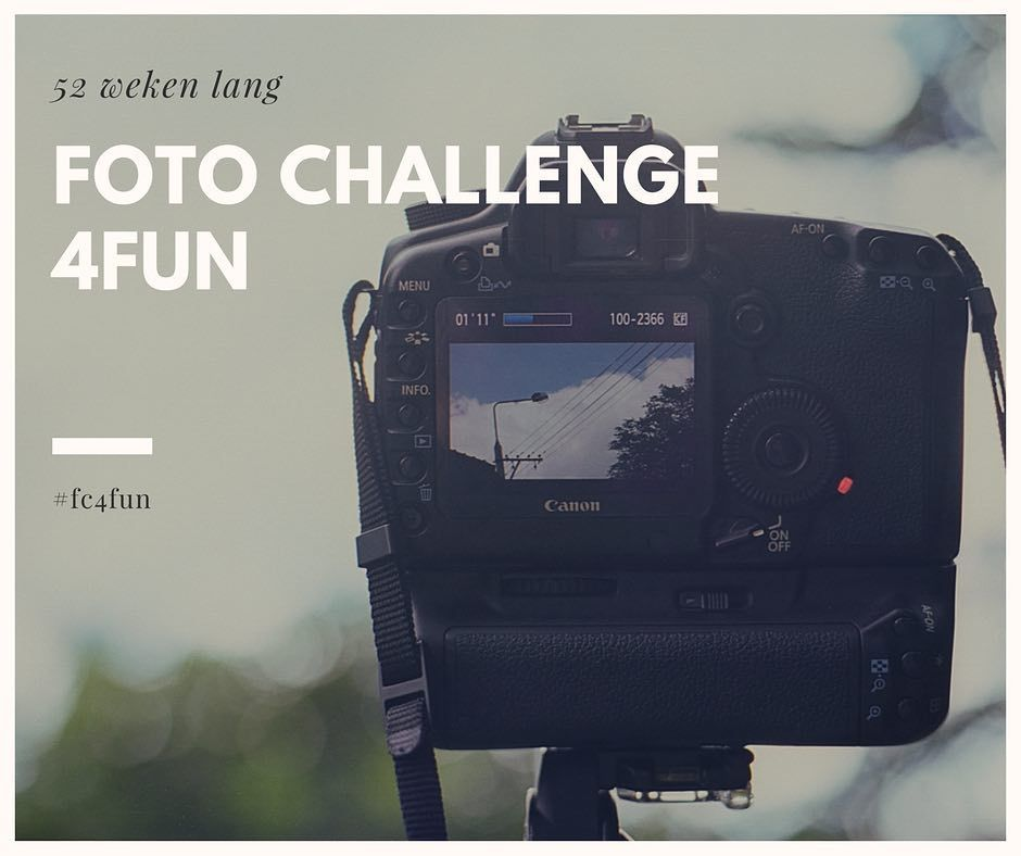 OK de uitdaging staat! Vanaf 1 september samen met een aantal anderen wekelijks een 'foto-opdracht' en dat 52 weken lang  #fc4fun