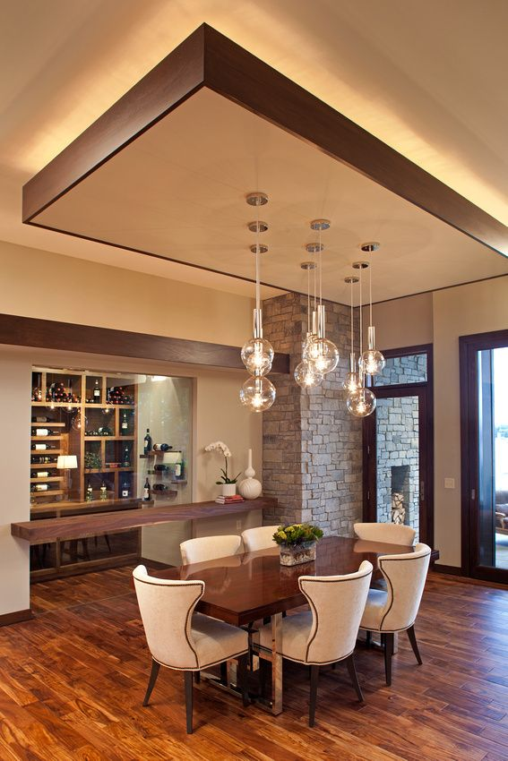 Residential Architecture Ceiling Design Living Room Dining Room