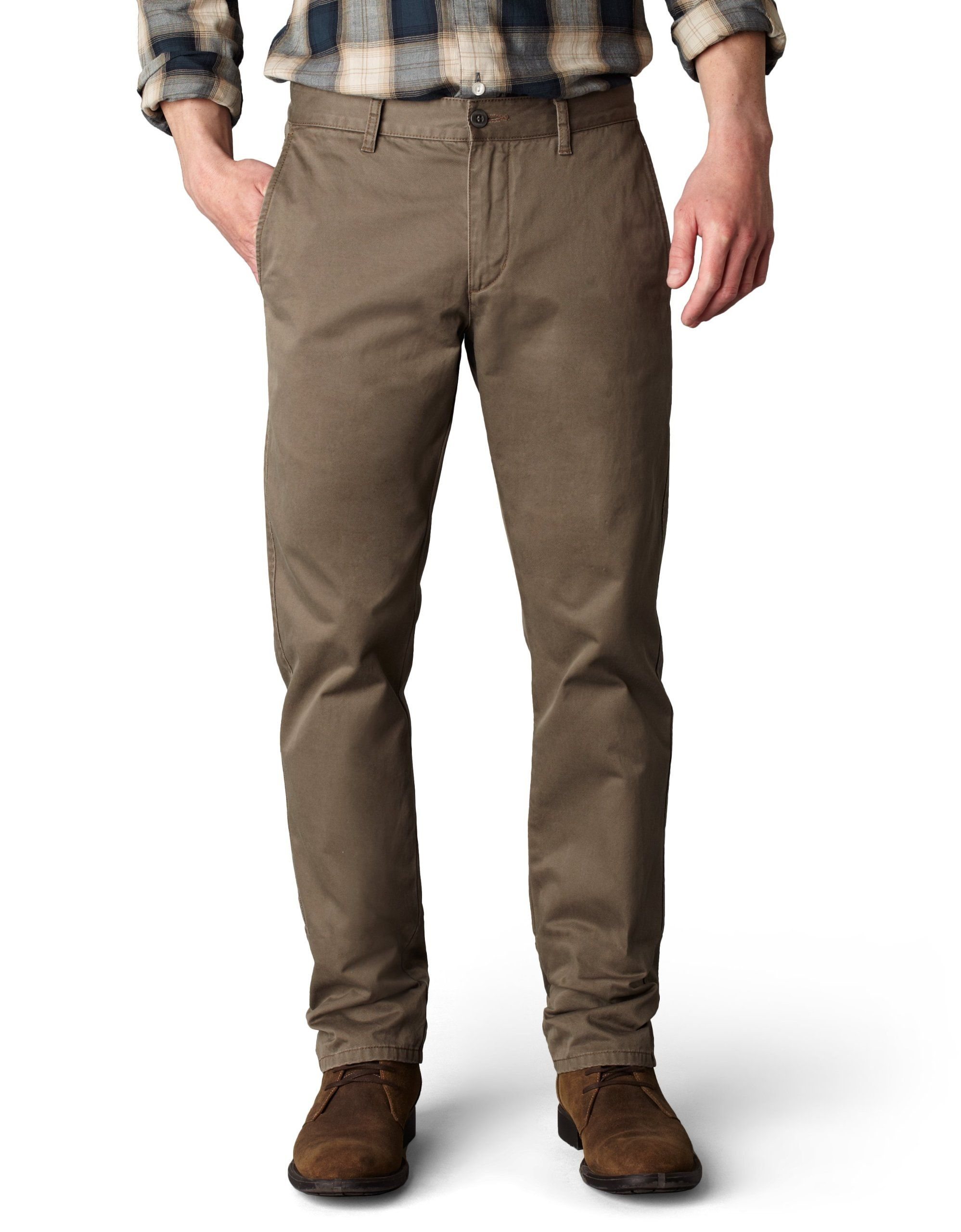 26f140eba83 Dockers Men s Alpha Khaki Slim Tapered Flat Front Pant