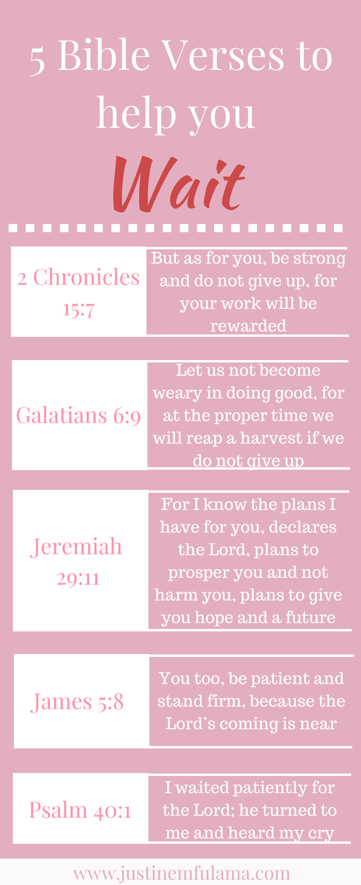 Learn to wait on God: Use these 5 Bible Verses to improve patience #quotes #prayer
