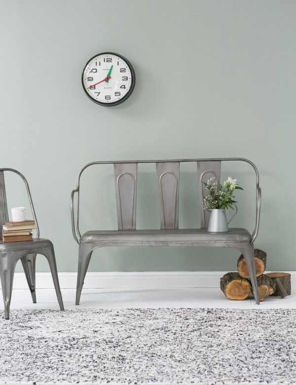 Tolix Style Grey Bench