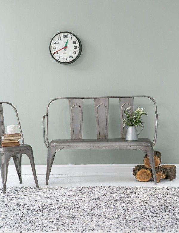 Tolix Style Grey Bench