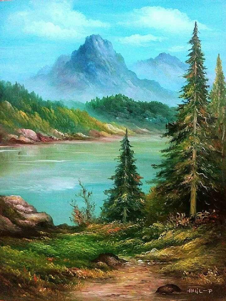Pin By Crisanti Art Studio On Resim Nature Art Painting Landscape Paintings Landscape Art