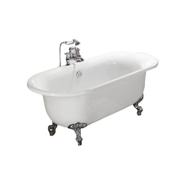 Bathroom Fixtures Vernon vernon clawfoot tub with polished bronze hardware | vintage