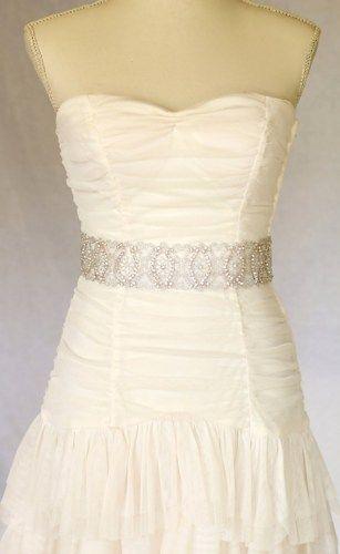 Eden  Rhinestone bridal sash, wedding sash, bridal accessories, crystal sash | amienoeldesigns - Wedding on ArtFire