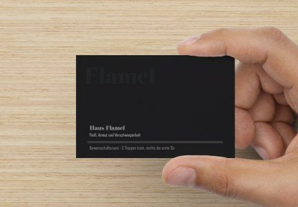Visitenkarte Mit Metallic Effekt Standard Mattpapier Cow
