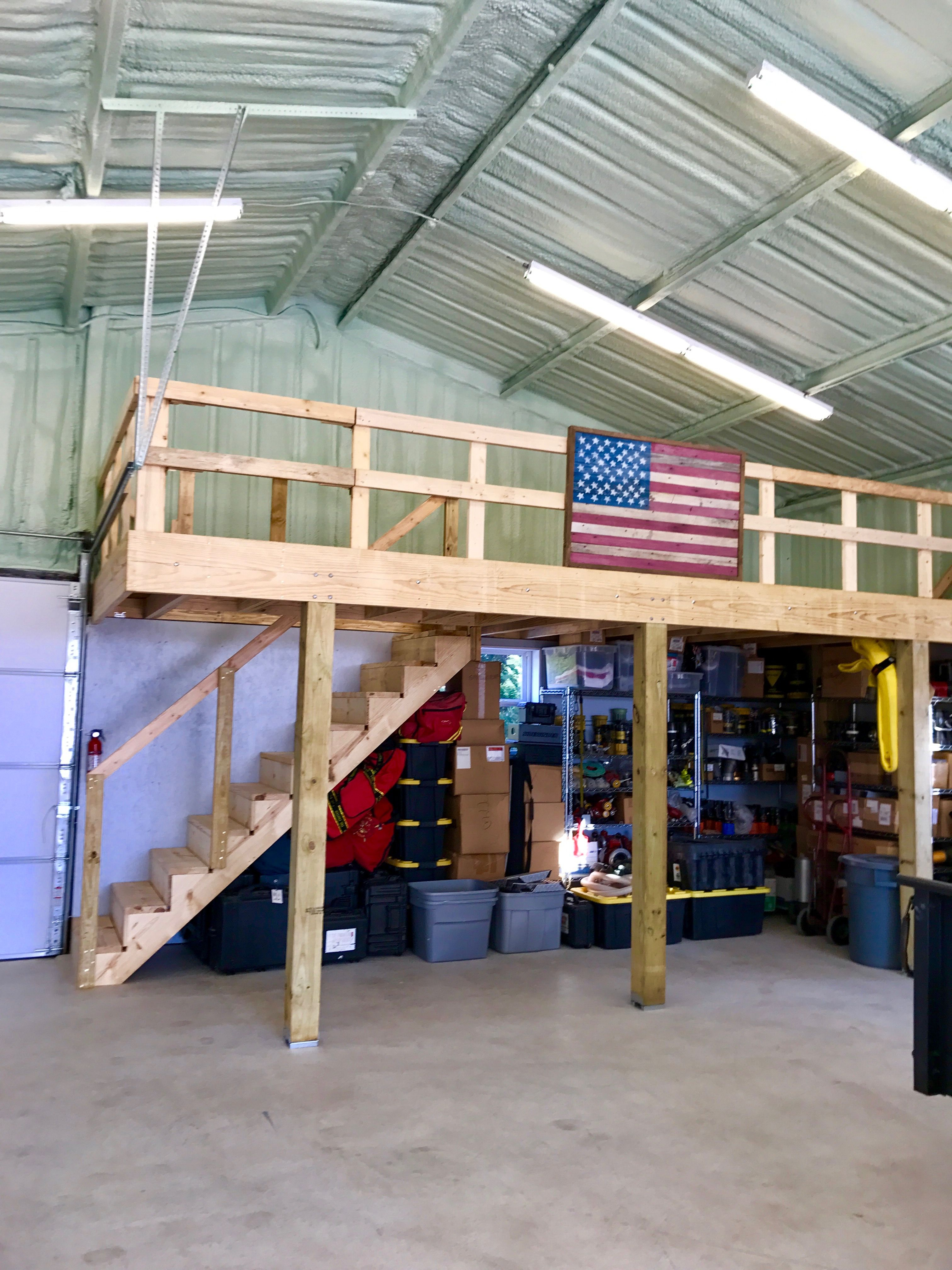 Pin By Adam B On Shops Garage Loft Pole Barn Garage Garage Decor