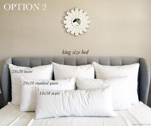 Pillow Size Guide For King Beds Bedroom Pillows Arrangement Bedroom Pillows Bed Pillows