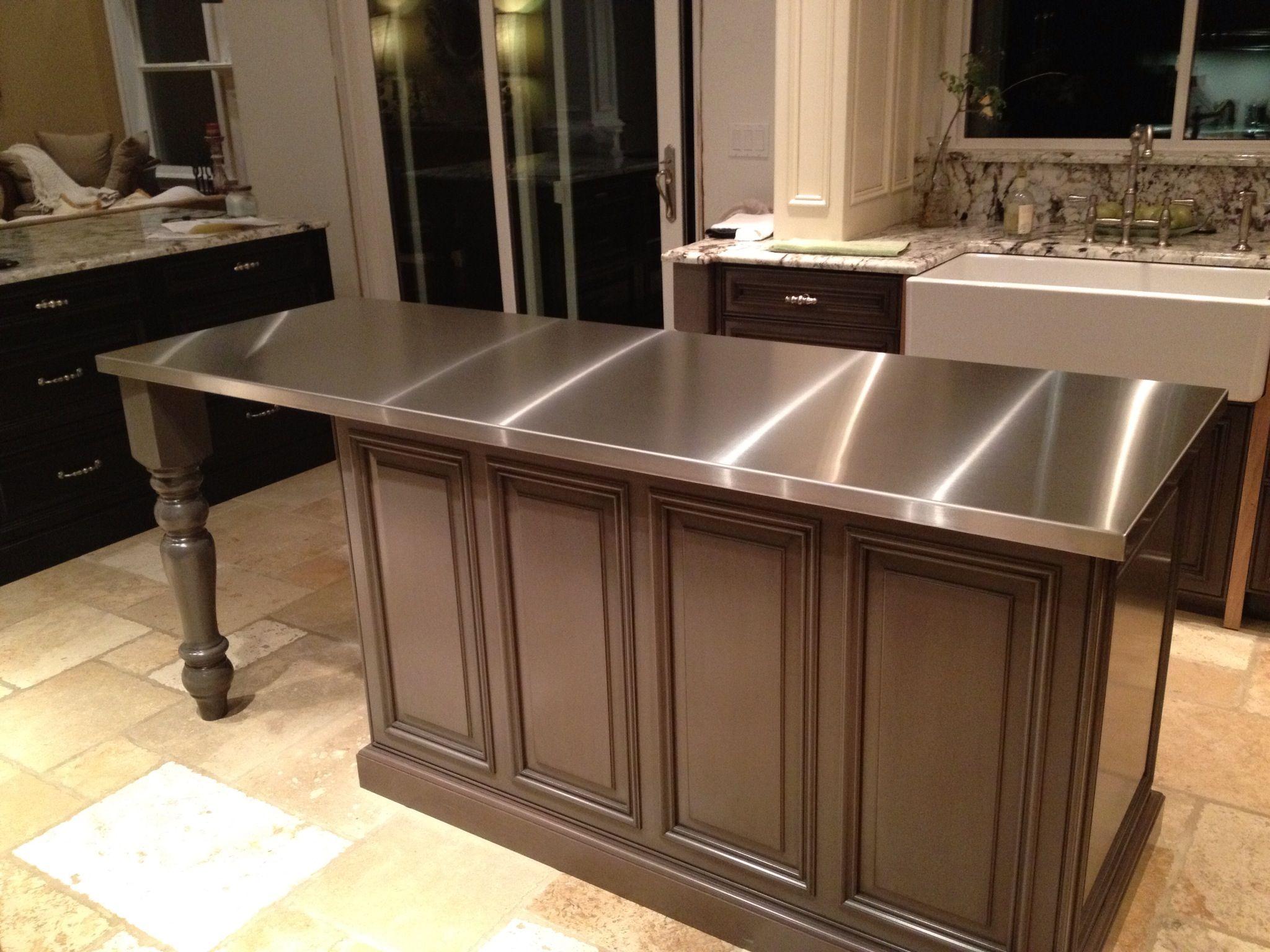 Stainless Steel Island Stainless Steel Countertops Diy Kitchen