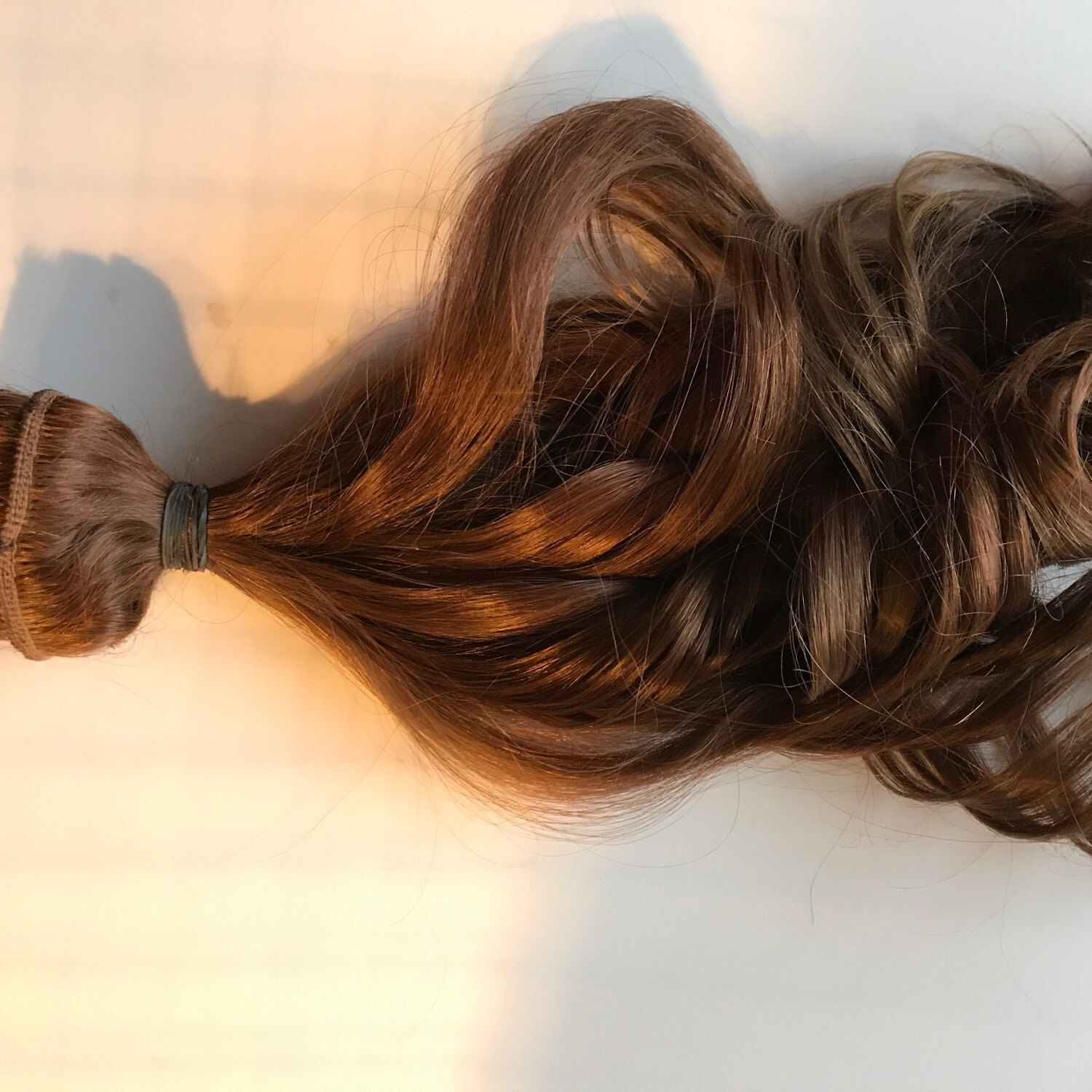Custom Light Brown Clip In Human Hair Extensions Ombre Clip Fade