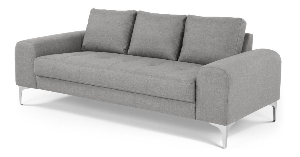 Vittorio Un Canape 3 Places Gris Perle Sofa 3 Seater Sofa