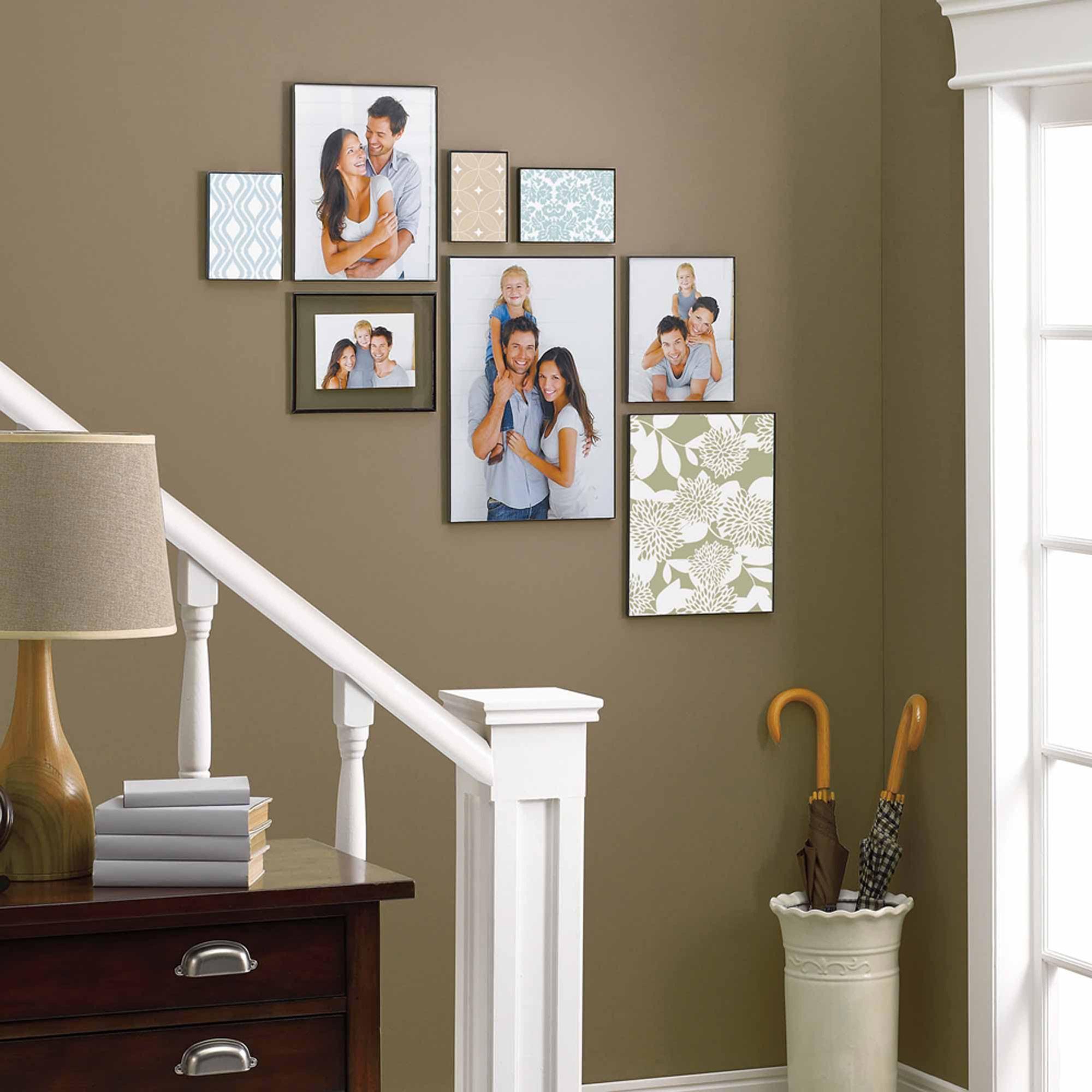 Mainstays 10 X 13 10 25 X 25 X 13 25 Flex Float Frame Black Finish Walmart Com Staircase Wall Decor Photo Wall Decor Decor