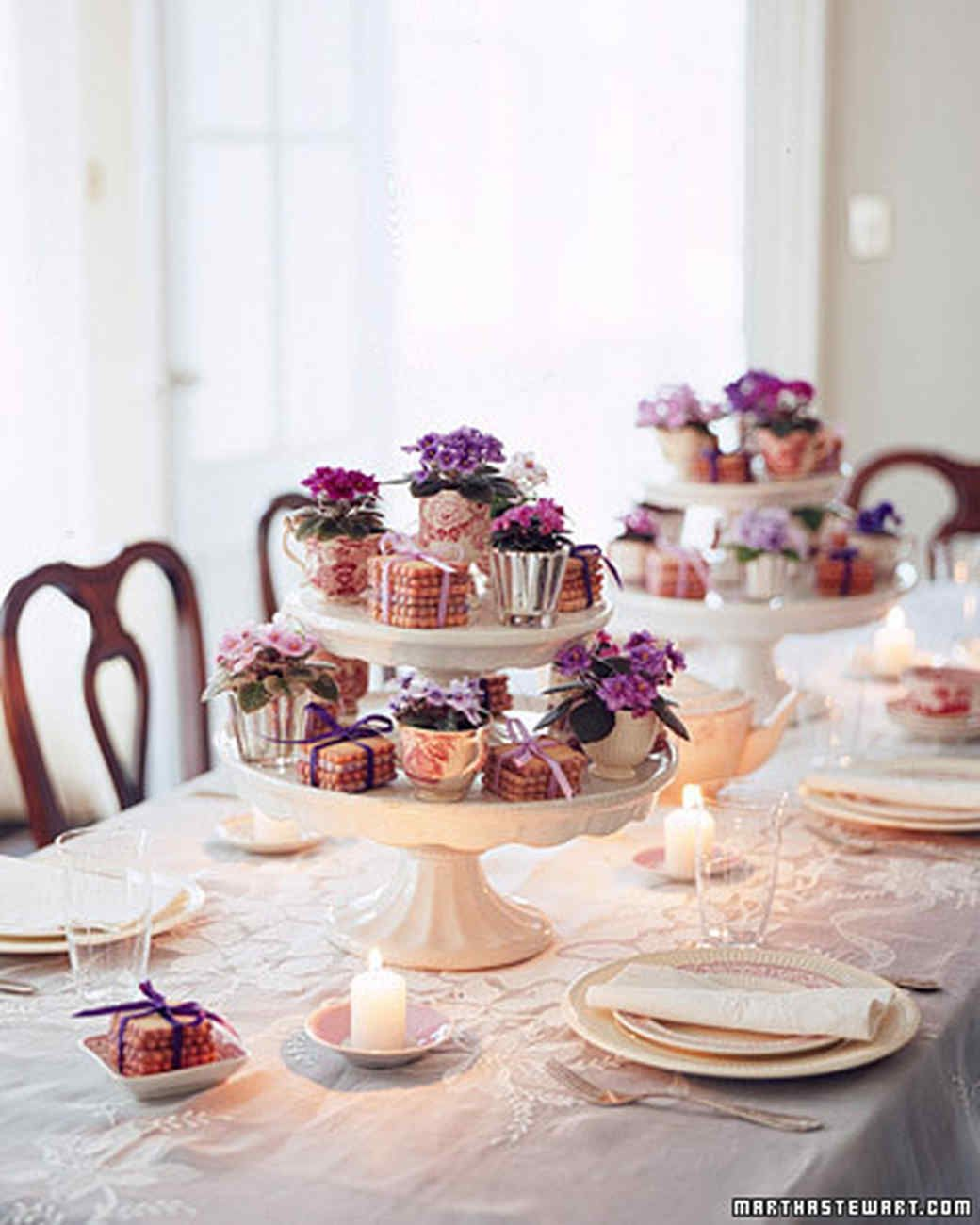 Cake Stand Centerpiece Dining Table Centerpieces | Martha Stewart Living — Utilize that tiered cake stand for an impressive, creative centerpiece!