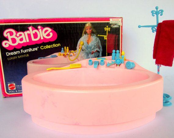1970 S Barbie Luxury Bathtub W Original Box Vintage