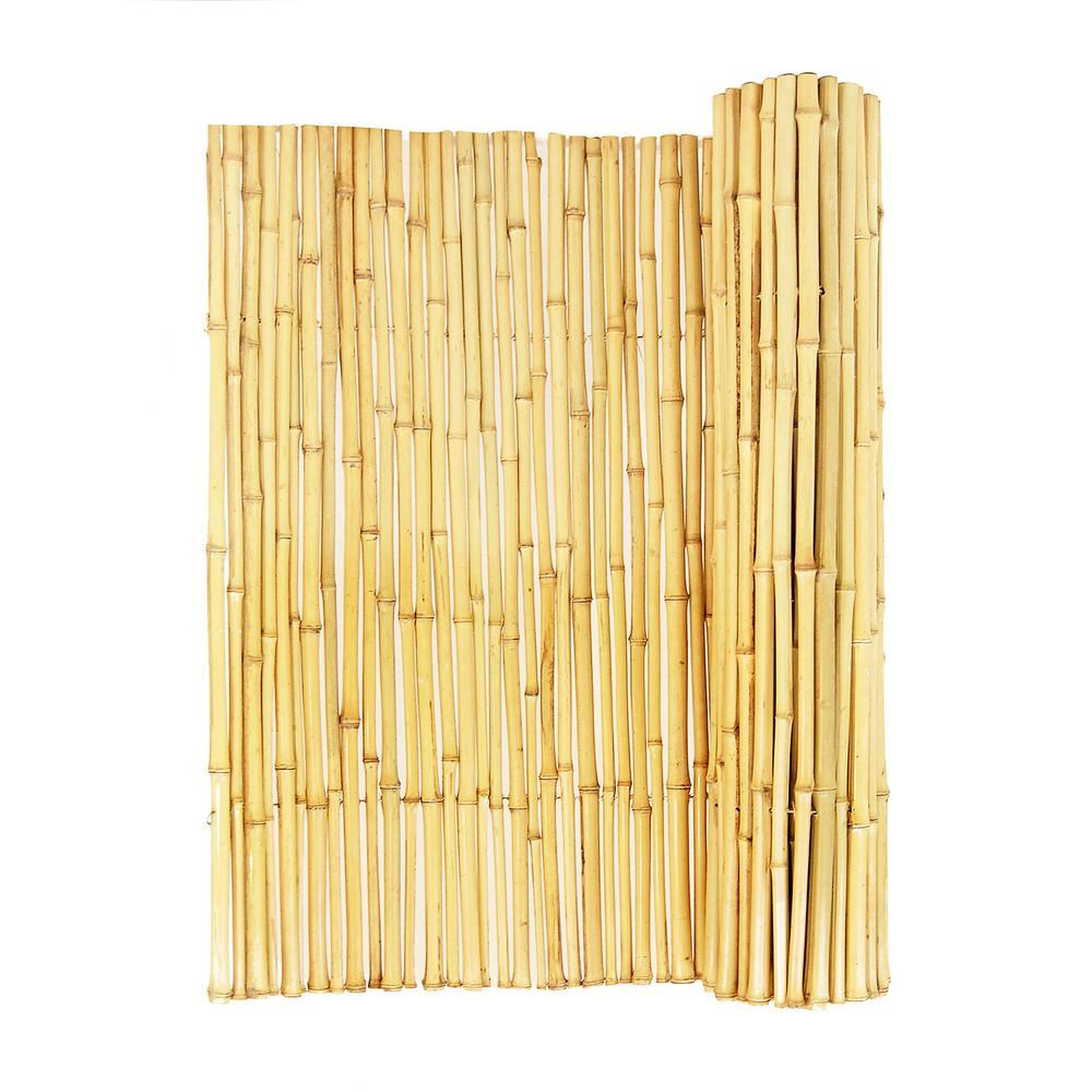 3 4 In D X 3ft H X 8 Ft W Natural Bamboo Fence Bama Bf025