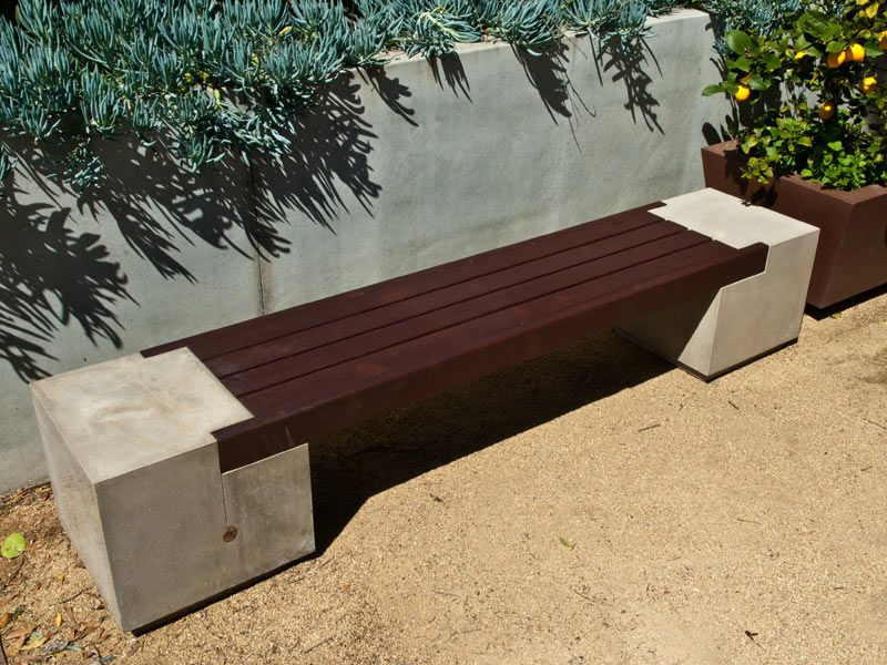 How To Make Concrete Furniture Concrete Wood Bench