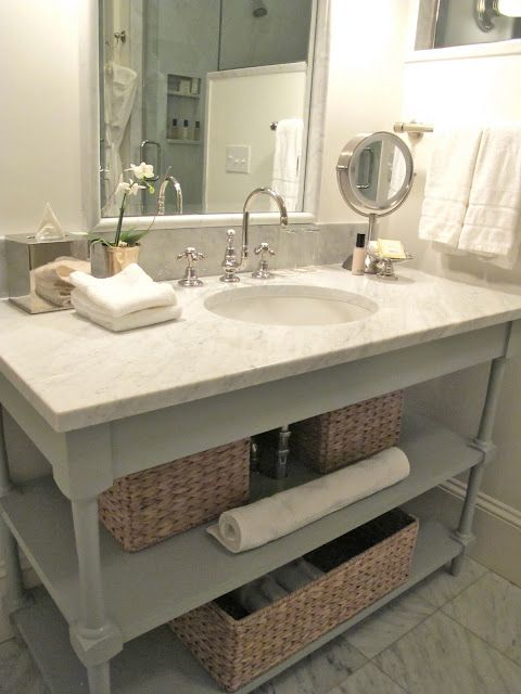 Painted Open Bathroom Vanity
