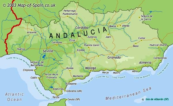Mapa De Andalucía España 2003 Fuente Abandonada Mapa De Andalucia Andalucía Andalucia España